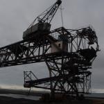 Lyftkran i kolhamnen i Longyearbyen