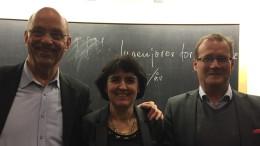 Kvällens föredragshållare fr vänster: Göran Värmby, IfM Moderator, Åsa Burman, VD Lightlab och Calle Carlsson, Svensk Sjöfart (foto Göran Värmby)
